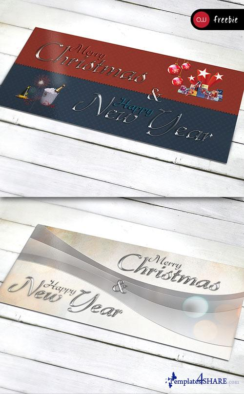 Greetings Card Set for Christmas and New Year