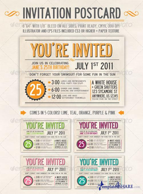 GraphicRiver Invitation Postcard