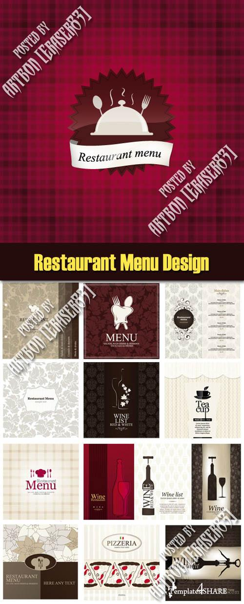 Restaurant Menu Design Vector Collection