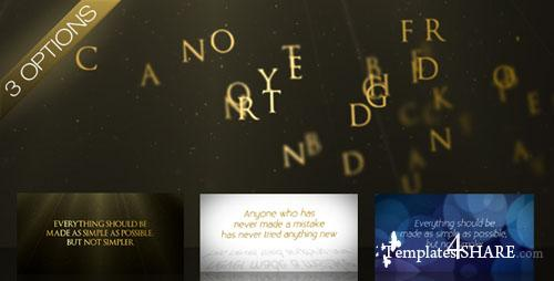 Wind Swept Text - Project for After Effects (Videohive)