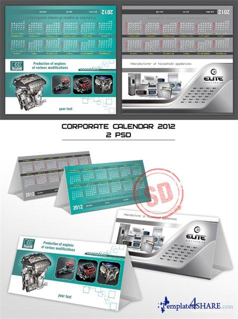 Corporate Calendars 2012 PSD Template - 3