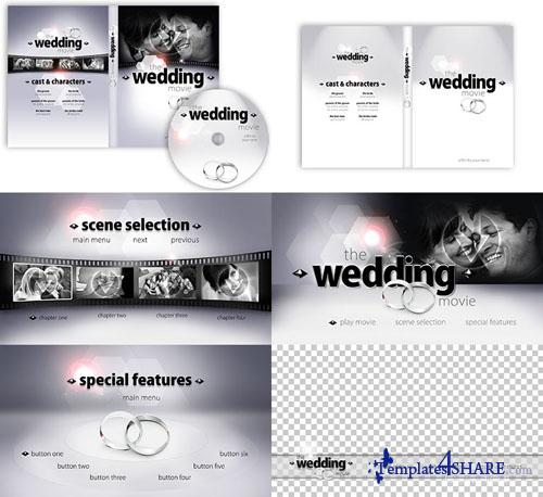 Precomposed zip kit 01 the wedding movie for Encore dvd menu templates free download
