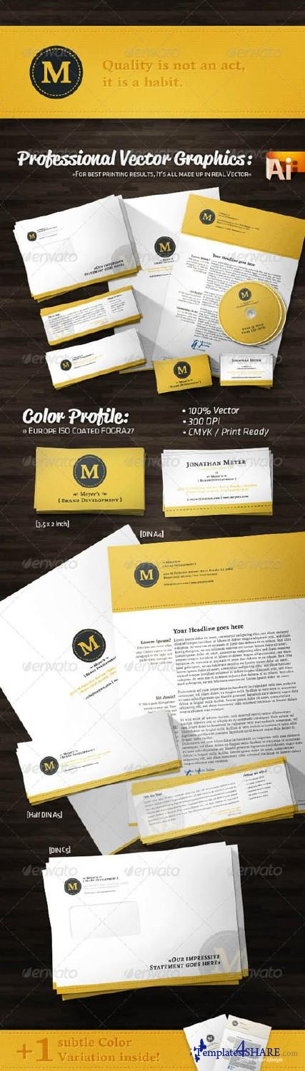 GraphicRiver Creative Agency Corporate Identity Retro Style