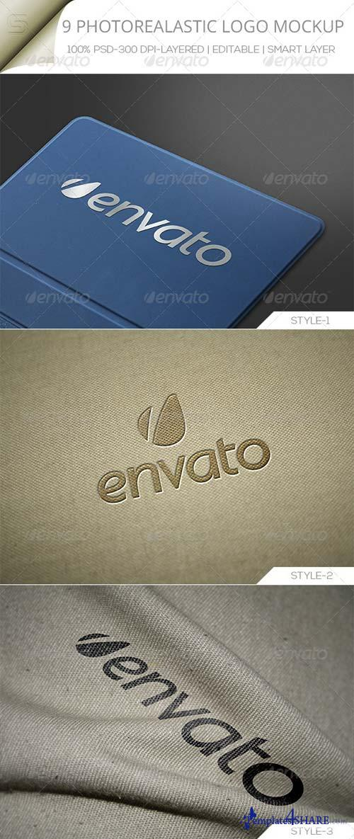 GraphicRiver Photorealastic Logo Mock-up _V-01