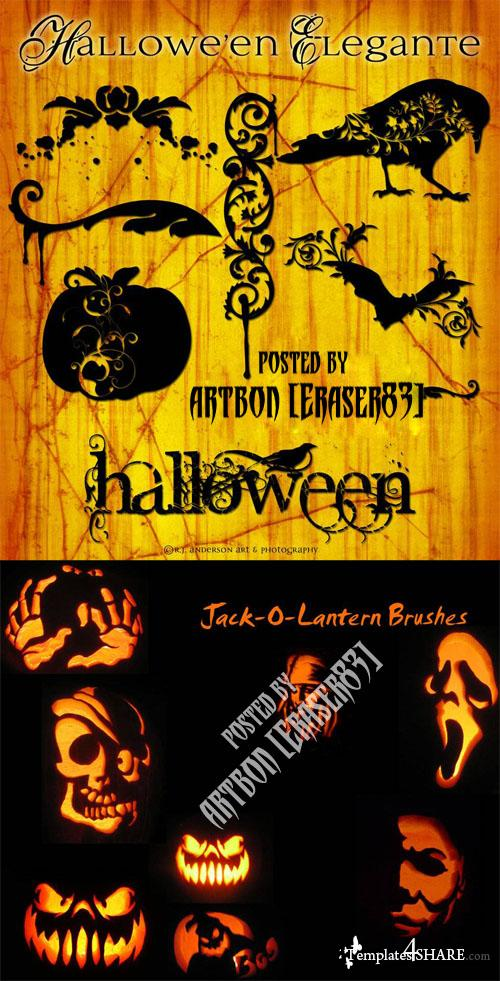 Halloween Photoshop Brushes Collection