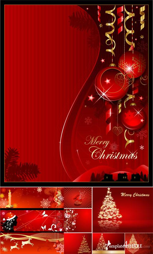 Christmas Red Design - Vector Clipart