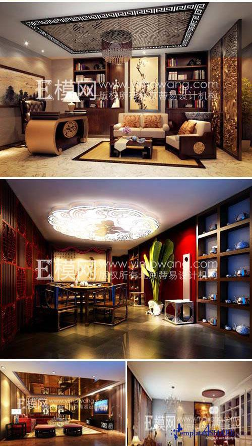 Scenes of Luxury Decor for 3D Max VRay (Collection 1-8)