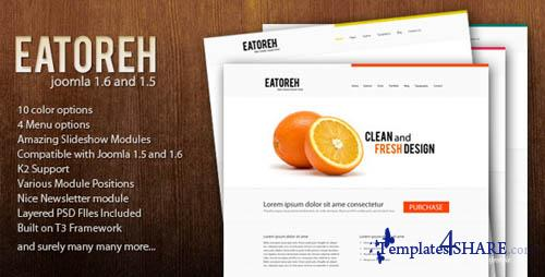 ThemeForest Eatoreh v1.3 - Clean and Fresh 1.7, 1.6 and 1.5