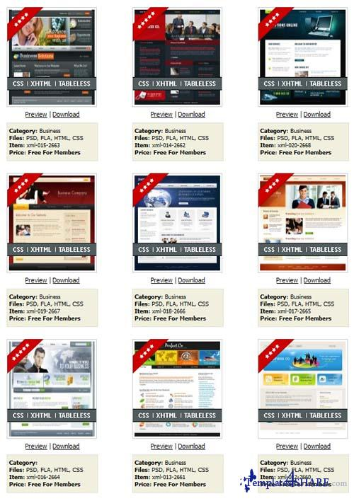 Templateworld 20 Full Flash XML Templates Collection (RETAIL)